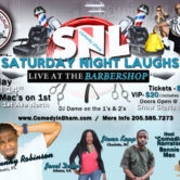 Saturday Night Laughs, Live In The BarberShop *April*